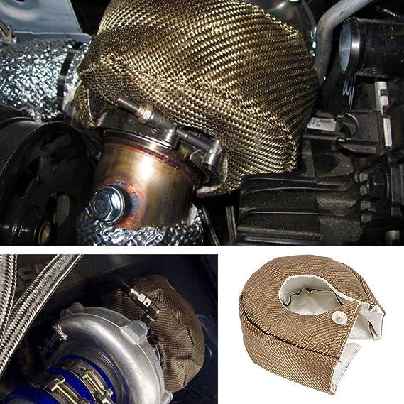 Turbo di copertura turbocompressore isolamento termico Shield coperta Titanium Fiber turbine di fissaggio molle riscaldamento barriera