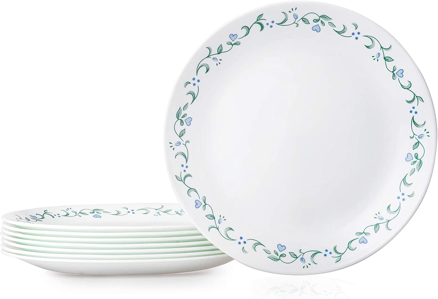 Amazon Com Corelle Country Cottage Dinner Plates 8 Piece Kitchen Dining