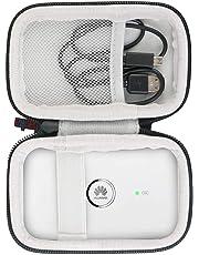 Khanka case hart Tasche Hülle Für Huawei E5573Cs-322/E5573s-320/E5573Cs/E5330mobile WiFi LTE Hotspot WI-Fi-Gerät Breitband Router. (Schwarz und weiß)