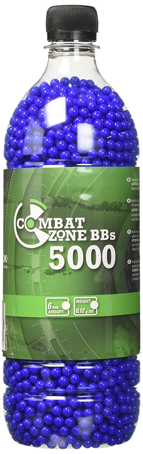Combat Zone Billes Airsoft 0,12 g Munitions 6 MM Bleues 5000 BBs