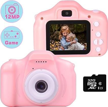 Cámara para niños le-idea Cámara de Fotos Digital 2 Objetivos ...