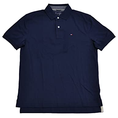 893ecde2 Tommy Hilfiger Mens Classic Fit Interlock Polo Shirt, Navy Blazer, Medium