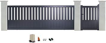 Alrededor del Portal PRD autou 716 a6d32 Baya Portillo Manual con puertas correderas de aluminio motorizada, gris, 3,5 m: Amazon.es: Bricolaje y herramientas