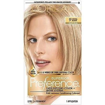 LOréal Paris Superior Preference Color de cabello permanente, 9 rubio natural