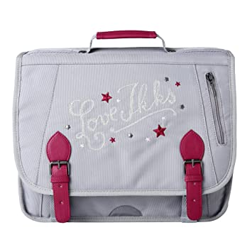 IKKS Love Cartable, 38 cm, Gris