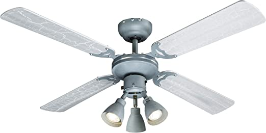 Ventilador de techo con luz & Interruptor de cordón, 2 alas ...