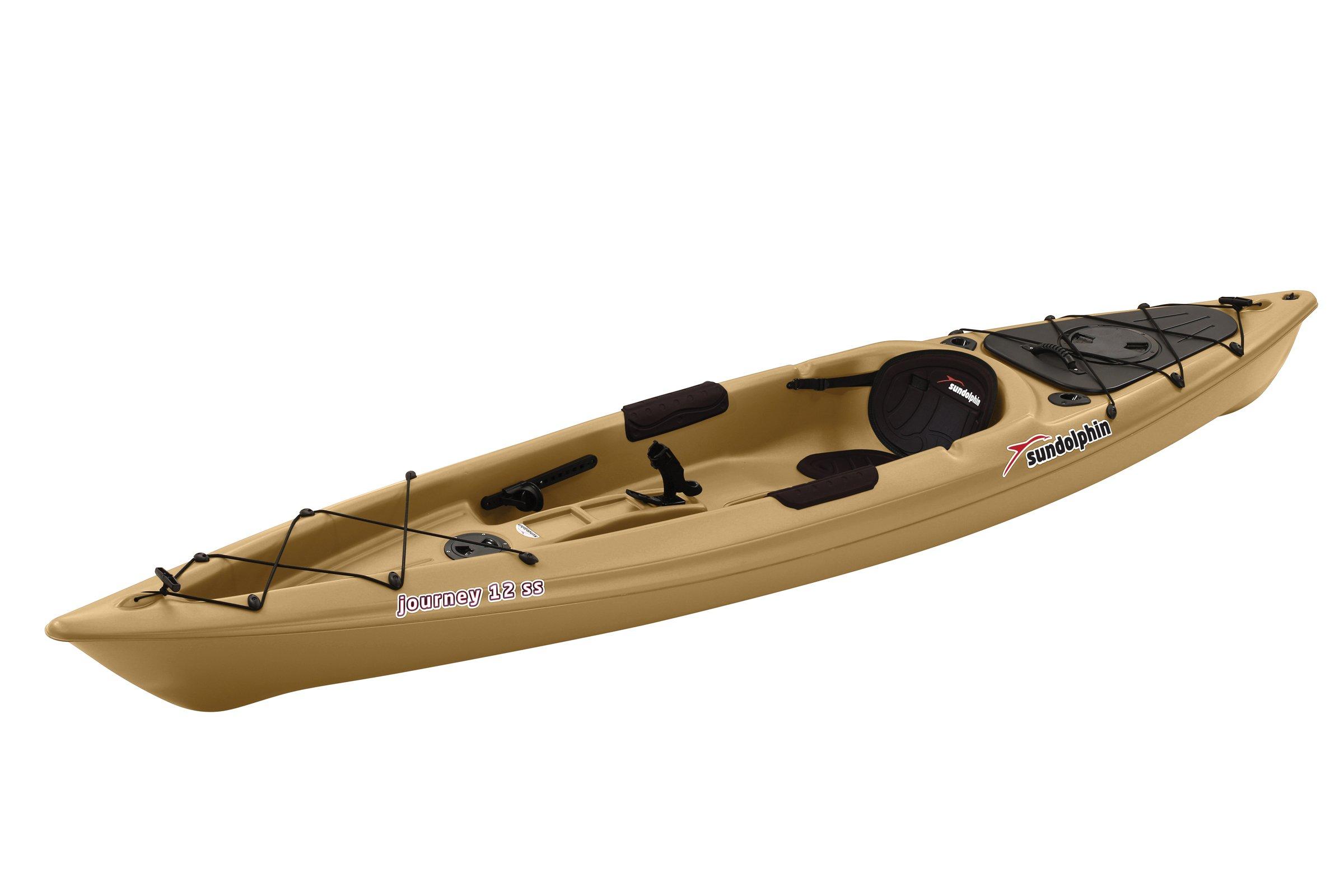 SUNDOLPHIN Journey Sit-on-top Fishing Kayak (Sand, 12-Feet) by SUNDOLPHIN