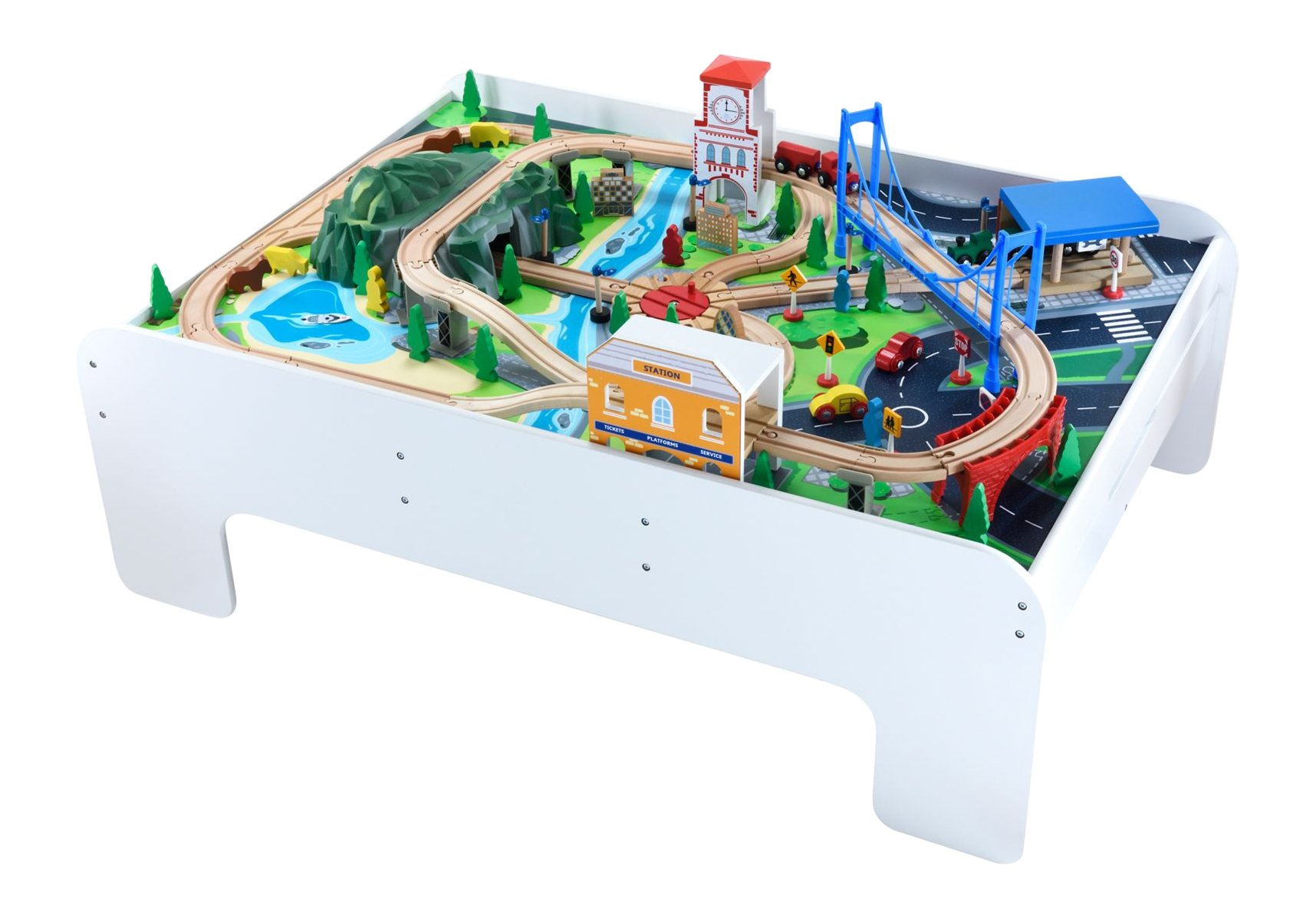 Early Learning Centre Figurines Wooden Train Table