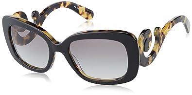 b578830b4fde Amazon.com: Prada Women's SPR270 Sunglasses, Black/Medium Havana ...