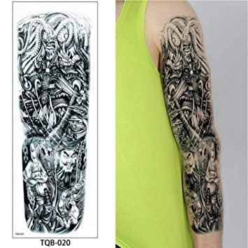 Tatuaje de manga completa para hombres Soldado guerrero Soldado ...