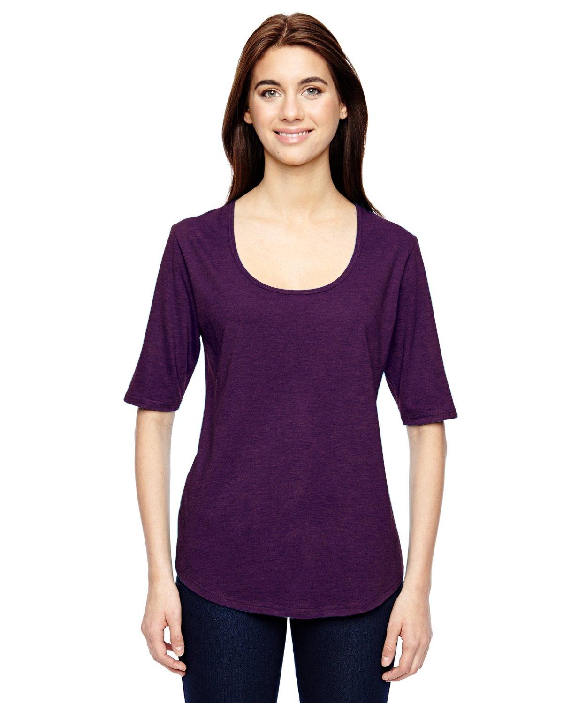 Anvil Ladies' Tri-Blend Deep Scoop 1/2-Sleeve T-Shirt