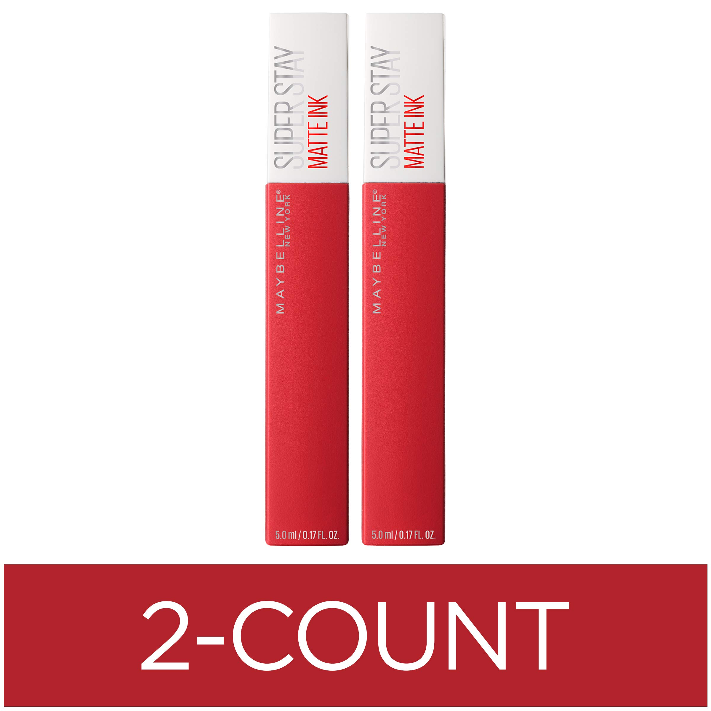 Maybelline New York SuperStay Matte Ink Liquid Lipstick, Pioneer, 2 Count