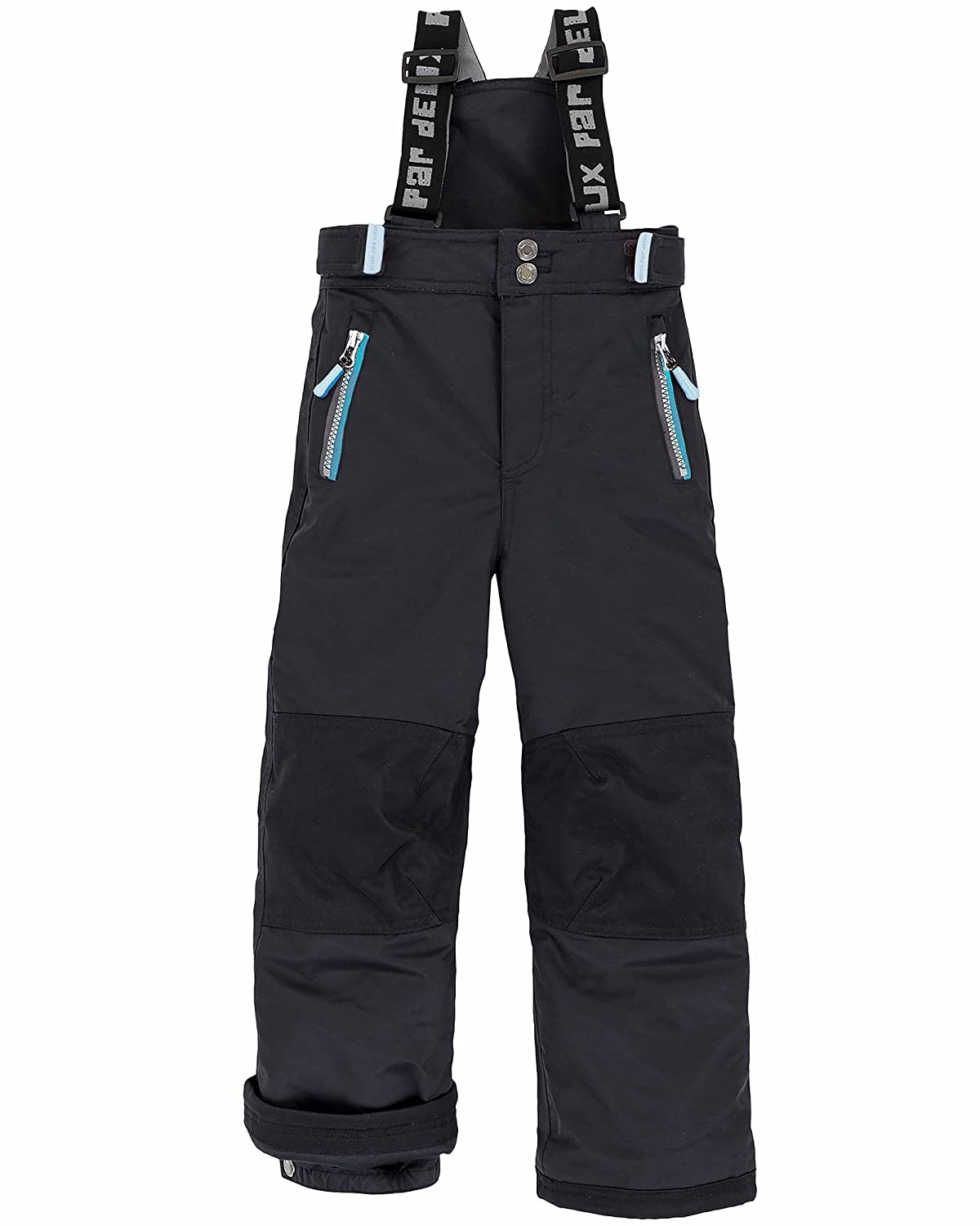Deux par Deux Boys' Technical Snowpants Black, Sizes 7-14