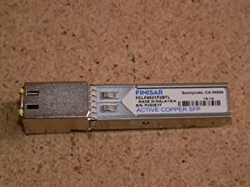 Amazon Com Finisar 1000base T Copper Sfp Fiber Optic Transceiver Fclf8521p2btl Computers Accessories