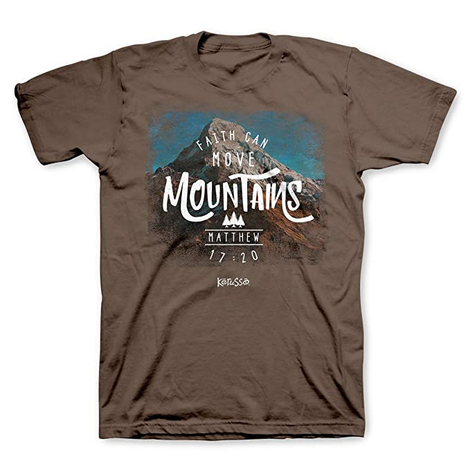 e0edc4453 Amazon.com: Faith Can Move Mountains Christian T-Shirt: Clothing