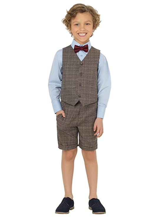Vintage Style Children's Clothing: Girls, Boys, Baby, Toddler Shiny Penny Boys Suits with Shorts Page boy Suits Waistcoat Suits 3 Months - 8 Years £20.99 AT vintagedancer.com