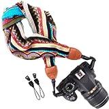 Wolven Soft Scarf Camera Neck Shoulder Strap Belt Compatible for All DSLR/SLR/Digital Camera (DC)/Instant Camera/Nikon…