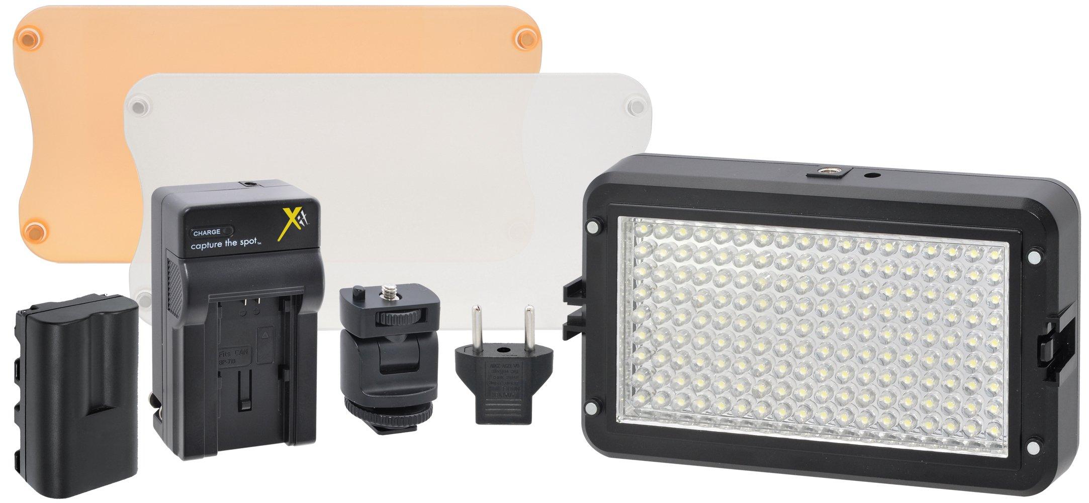 Xit XTLEDPROKIT Professional Portable LED Light and Flash Kit (Black)