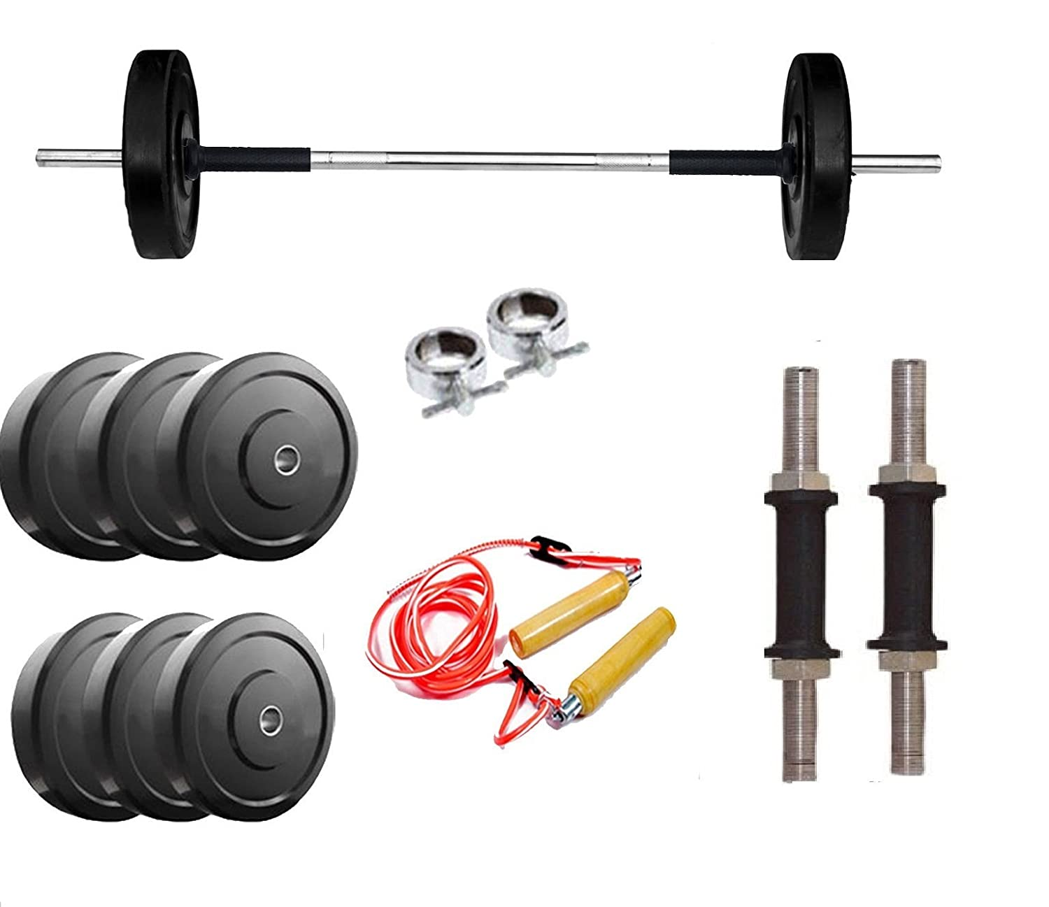Buy gymnase kg home gym set with ft plain rod gym accessories