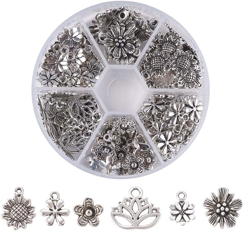 Kissitty 200g Antique Silver Lead Free /& Nickel Free Random Mixed Alloy Sport Theme Charms Collection 15~31mm DIY Jewelry Craft Making Metal Pendants About 130pcs