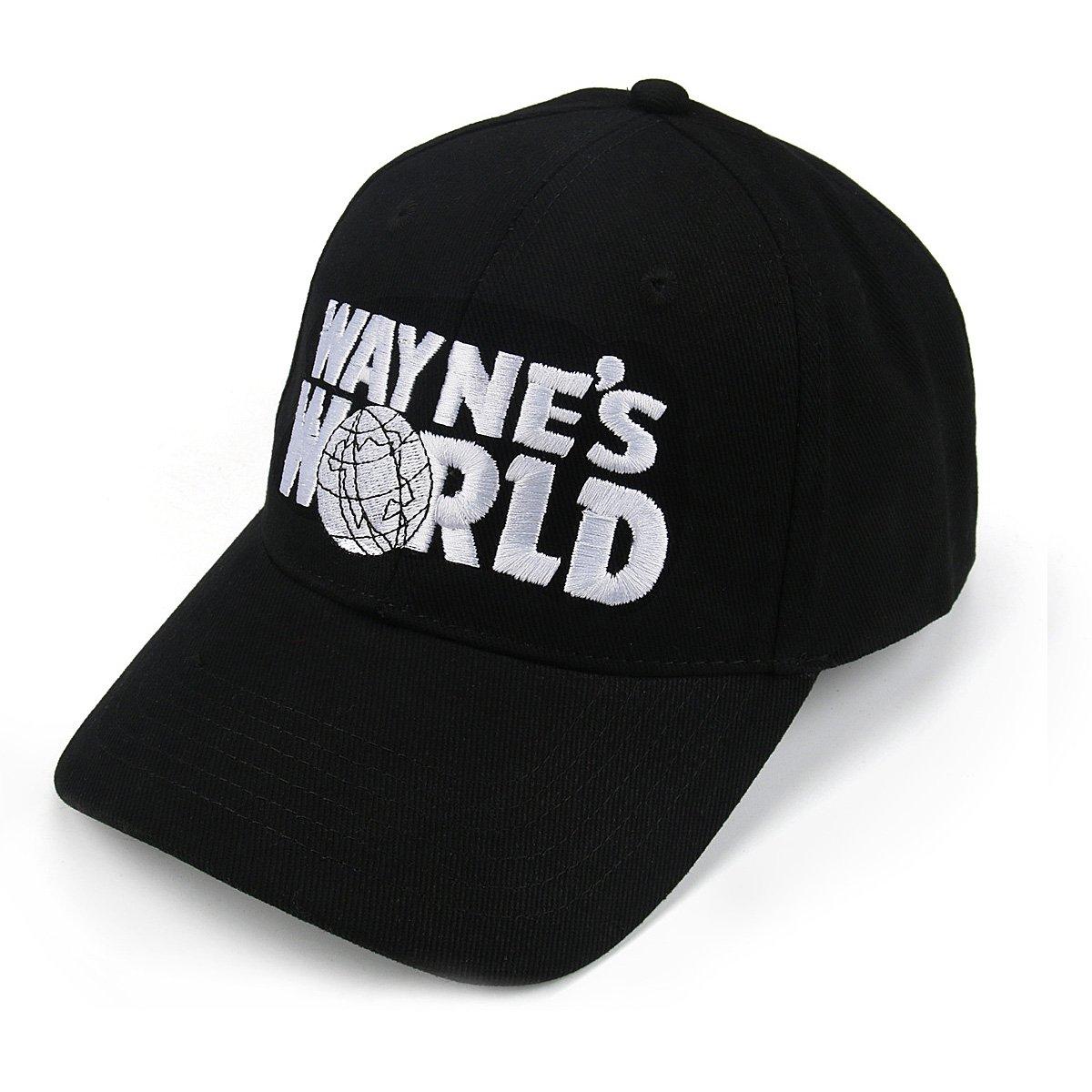 Nofonda Gorra de b/éisbol,Waynes World Bordado,Gorra Casual Adulto Unisex Negro