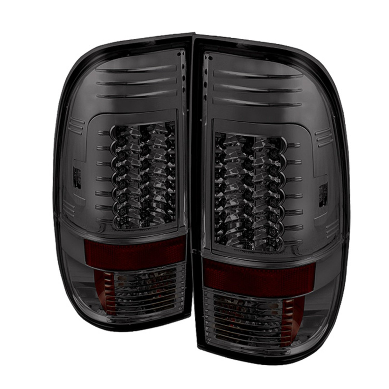 Spyder Auto 5029201 LED Tail Lights; Uses Stock Bulbs; Pair; G2 Version; Smoke;