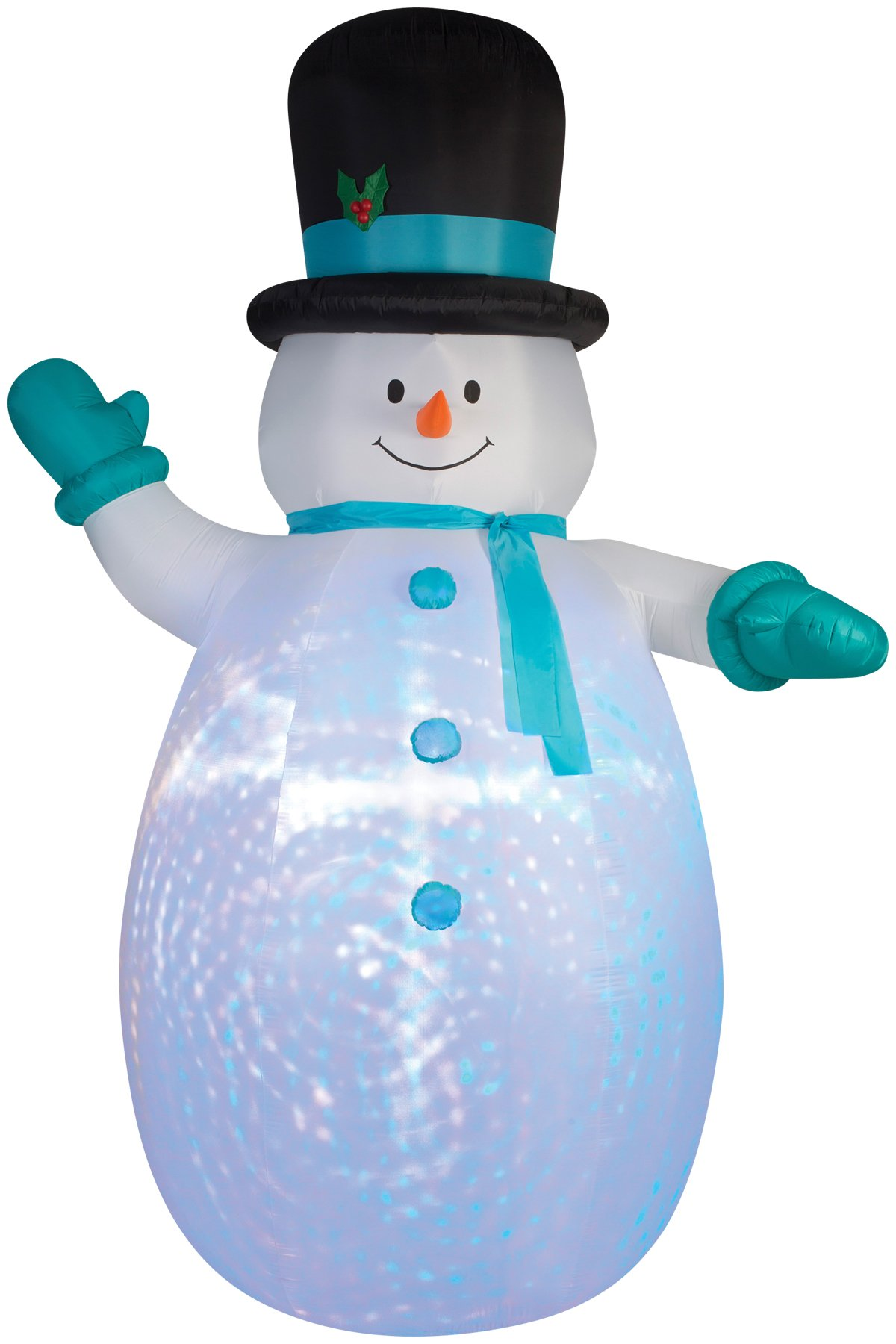 Christmas Inflatable Giant Projection Kaleidoscope Snowman With Top Hat By Gemmy