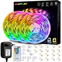 SHOPLED 15M LED Strip Lights with IR Remote Control