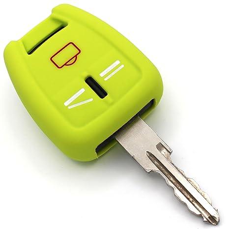 Llave Móvil og para 3 botones llave de coche silicona Cover de Finest de Folia verde lima