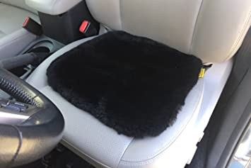 Mississ Sheepskin Seat Covers Pad Car Cushion Super Soft Thick Wool Non Slip Backing Universal Fit for Pad,universal Fuzzy Pure Cover Protector Warm Winter durable
