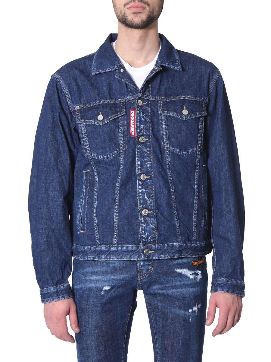 Brand Size S DSQUARED2 Men's S74AM0940S30309470 blueee Cotton Jacket