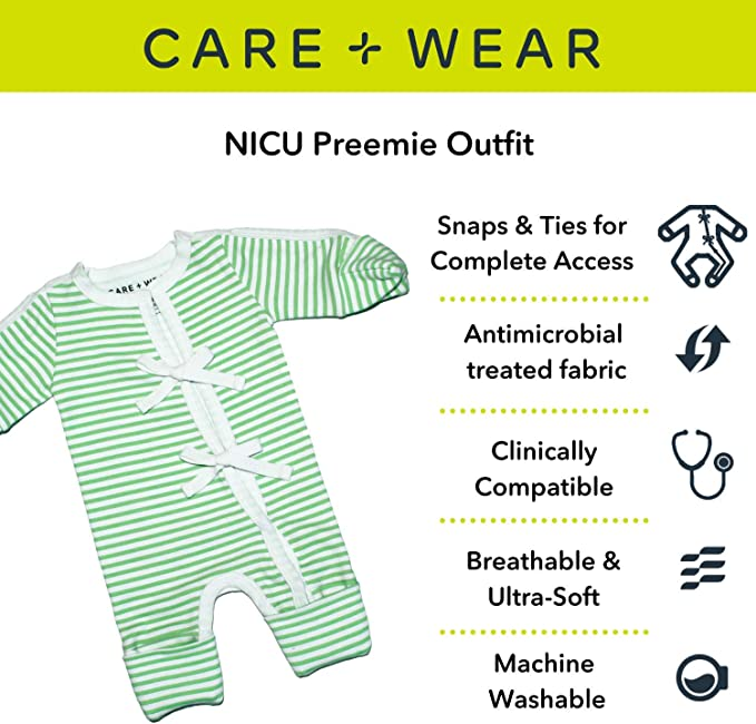 Four Corners Playsuit Preemie Clothes for your new Preemie Baby Preemie Baby Clothes sized Preemie 3-6lbs