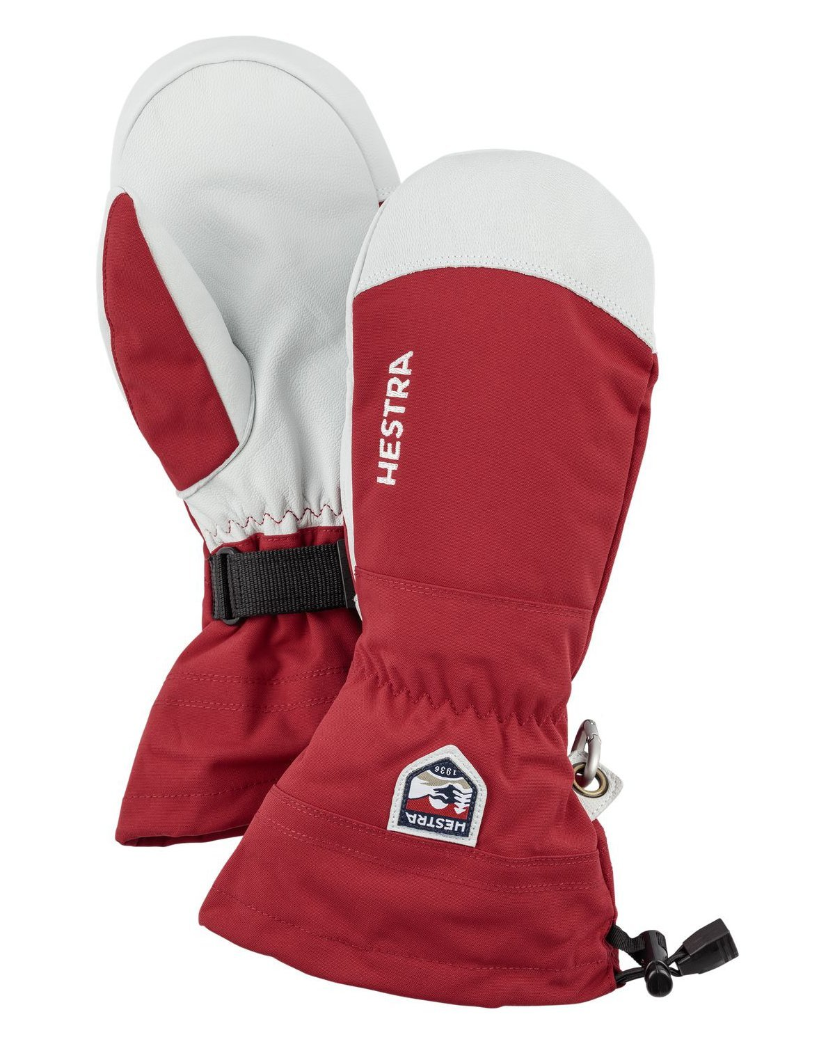 Hestra Gloves 30571 Army Leather Heli Ski Mitt, Red - 6 by Hestra