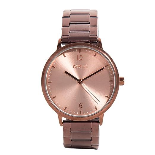 Parfois - Reloj Rose Gold Tray - Mujeres - Tallas Única - Marron: Amazon.es: Relojes
