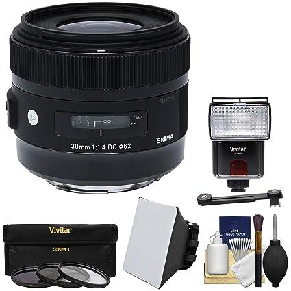Sigma 30 mm f/1,4 Arte DC HSM Lente con 3 UV/CPL/ND8 filtros + ...