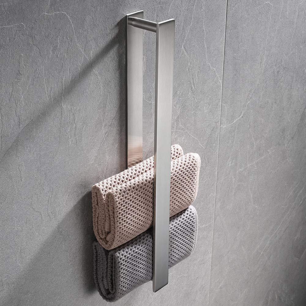 Nero Biutimarden inossidabile 304 Autoadesivo Per Porta Salviette in Acciaio Inossidabile da bagno per bagno Accessori adesivo bagno barra portasciugamani cucina Acciaio Inossidabile 40cm