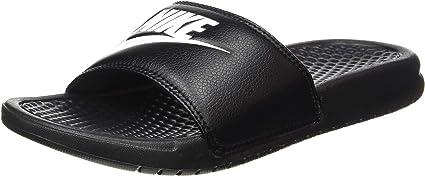TALLA 42.5 EU. - Benassi Just Do It, Zapatos de Playa y Piscina Hombre, Negro (Black/White 090), 42.5 EU