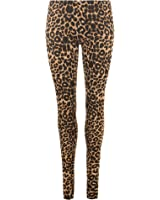 New Women's Skinny High Waisted Leopard Animal Print Leggings Brown Stretch Trouser comfy Jeggings