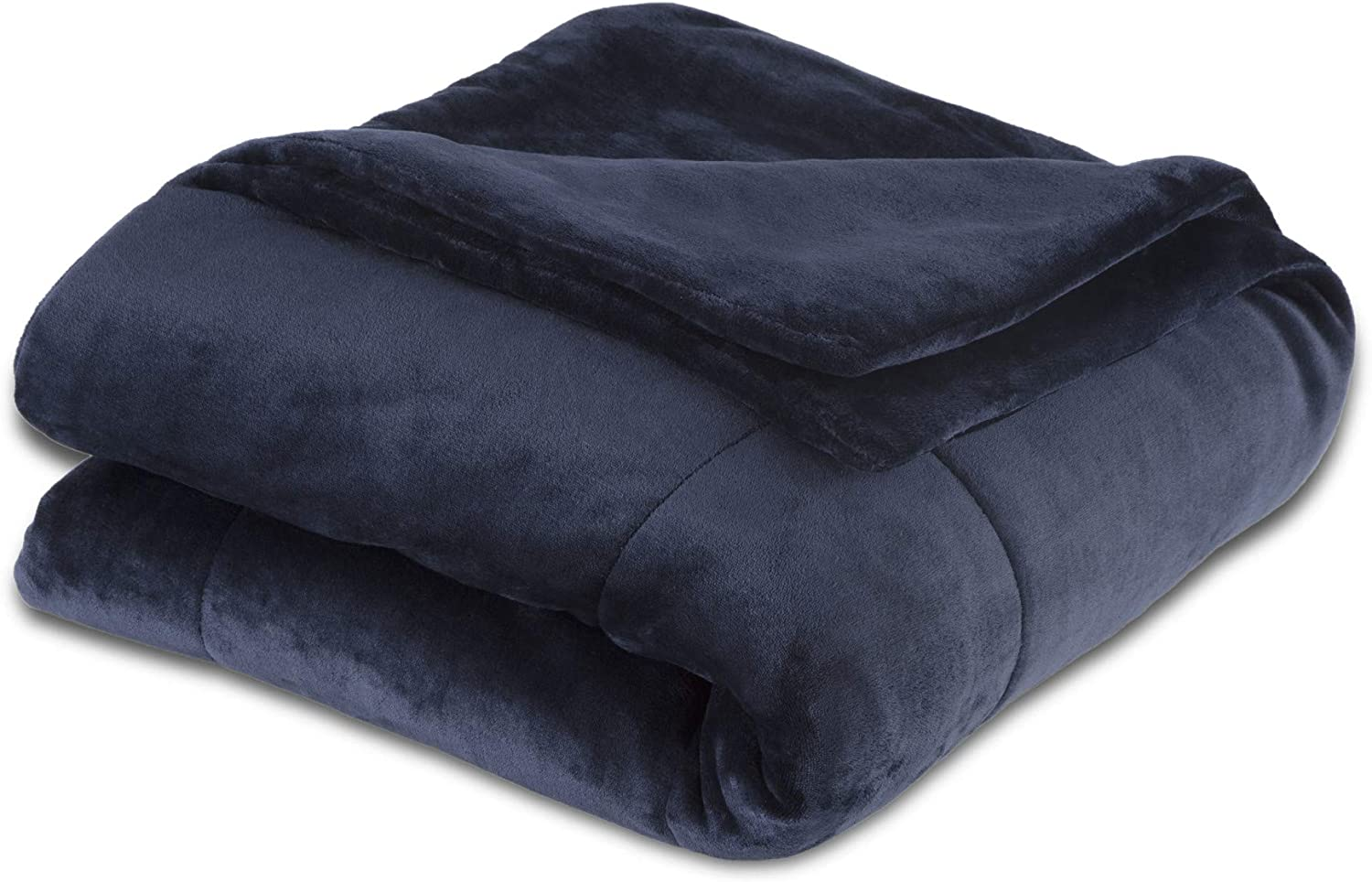 Vellux Plush Luxury Super Soft, Fluffy and Fuzzy Comfortable Lightweight, Warm and Cozy Microfiber Blanket for All Season, Full/Queen, Midnight Blue