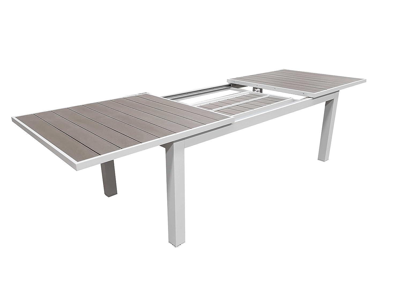 Tavolo Giardino Estensibile Alluminio E Plastic Wood