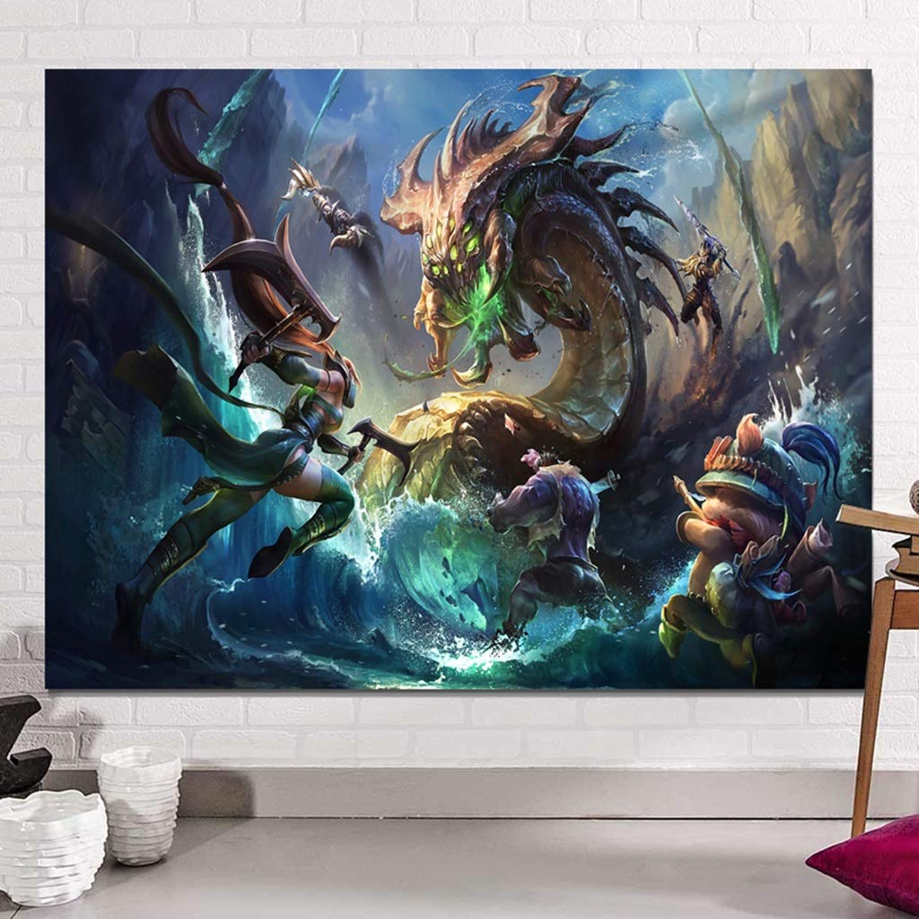 Wall Hanging 丨 Game Series Tapestry Rectangular Wall Tapestry for Home Decoration - Multi Color Size Optional Tapestry (Color : E, Size : 150CM×130CM) by HappyL