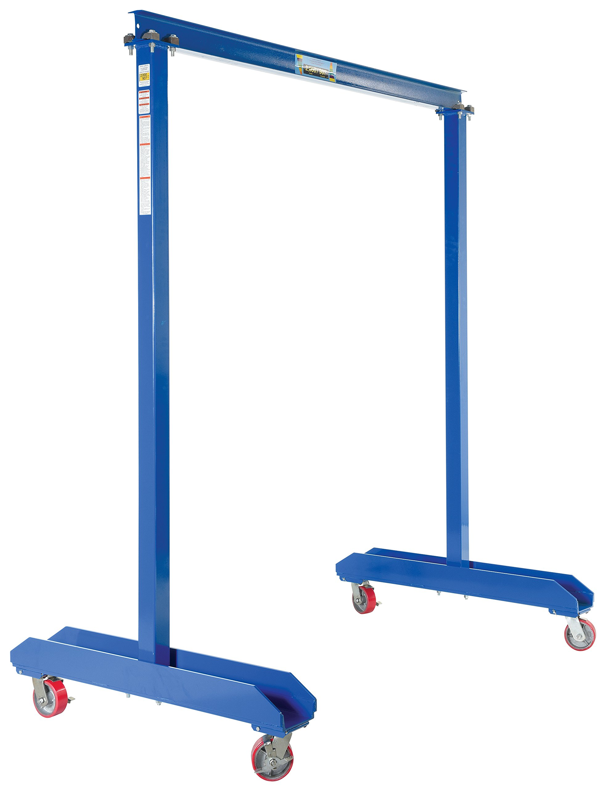 Vestil FPG-20 Portable Work Area Gantry Crane, 2,000 lb., 94'' Height