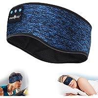 MUSICOZY Sleep Headphones Bluetooth Sports Headband, Wireless Music Sleeping Headphones IPX6 Waterproof with Mic for…