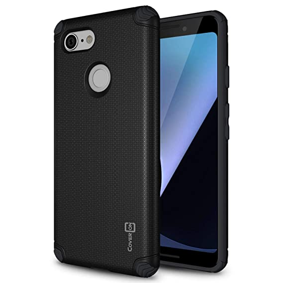 on sale 06cf4 66d98 CoverON Bios Series Google Pixel 3 Magnetic Case, Protective Slim Fit Hard  Minimalist Phone Cover with Embedded Metal Plate for Magnetic Car Mounts -  ...