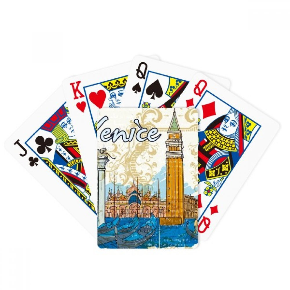 Italy Venice Landmark National Illustration Poker Playing Cards Tabletop Game Gift