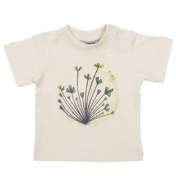 bebobio – Camiseta Niños serigrafía única de algodón ecológico crudo – Talla: 18 Meses (