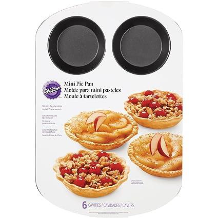Wilton 2105-0486 6-Cavity Mini Pie Pan  sc 1 st  Amazon.com & Amazon.com: Wilton 2105-0486 6-Cavity Mini Pie Pan: Kitchen u0026 Dining