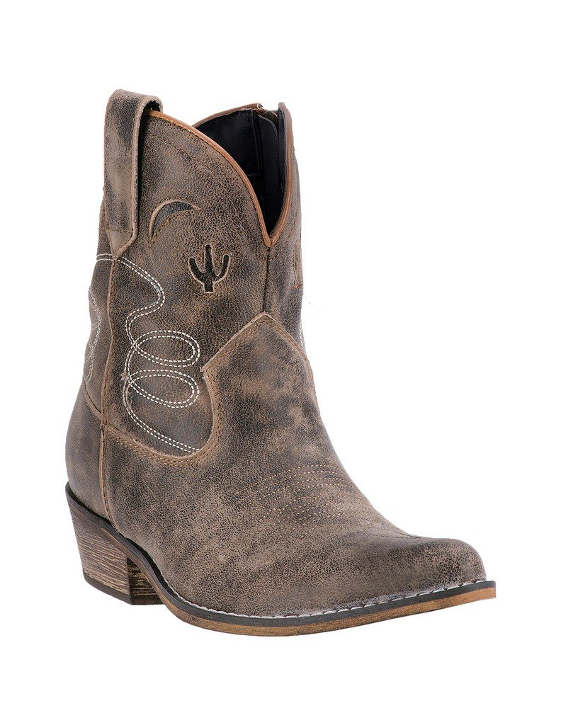 Dingo Women's Adobe Rose Leather Boots B01LW7K9O7 6 B(M) US|Taupe