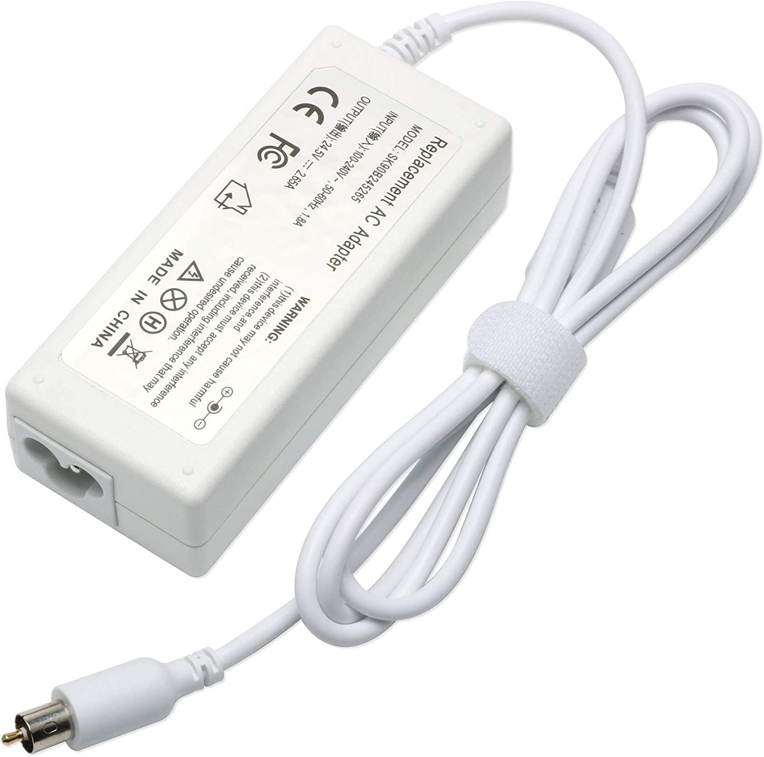 YTech 65w 24.5V 2.65A AC Adapter Charger Power Compatible with for Apple PowerBook G4 1A1021 A1133 M4328 M8943 White
