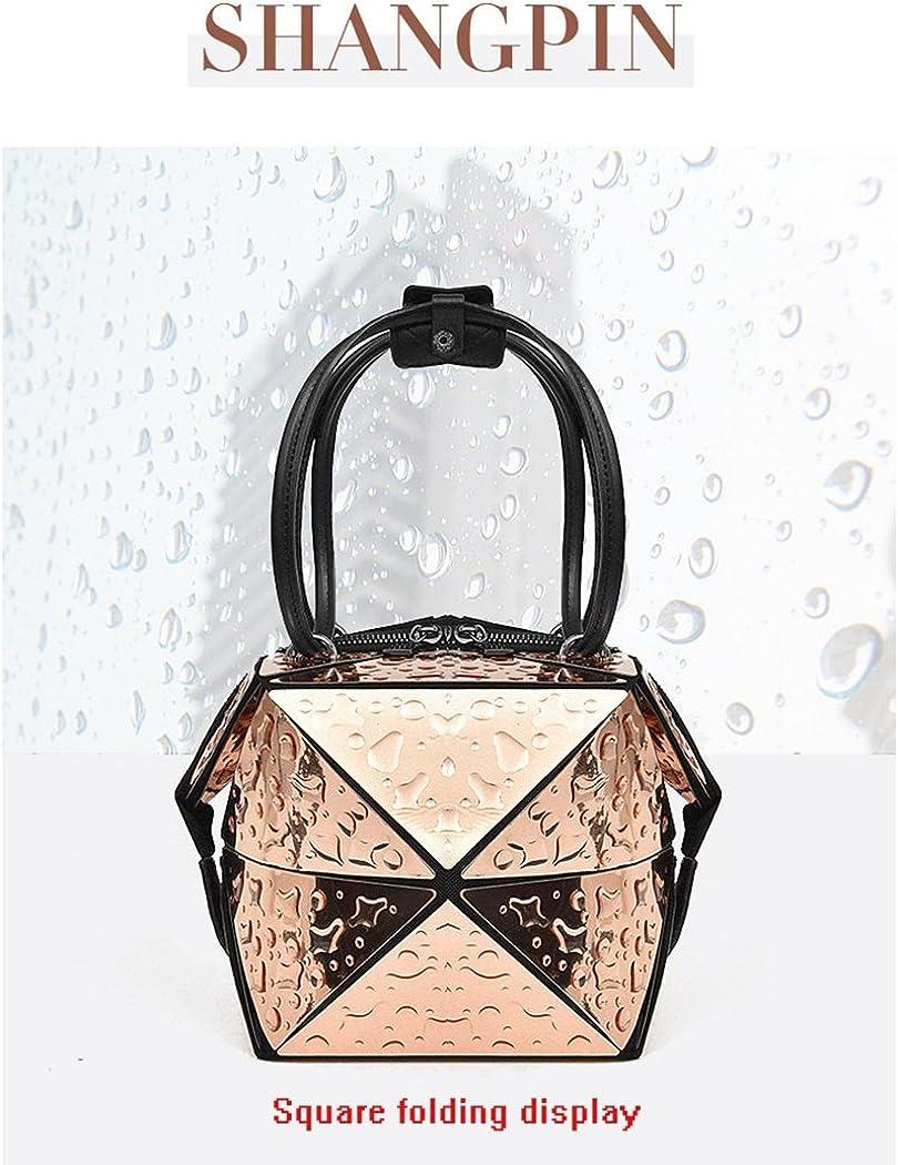 RYRYBH Womens Casual Shopping Bag Rhombic Chain Handbag Handbag Geometric Series Foldable Shoulder Bag Temperament Work Bag 6 Colors Optional Crossbody Bag